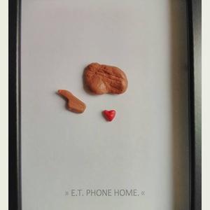 Minimal art kavicskép - E.T., Otthon & Lakás, Kép & Falikép, Dekoráció, Festett tárgyak, Meska