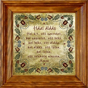 Falikép Házi Áldás Jász motívummal #49, Házi áldás, Spiritualitás & Vallás, Otthon & Lakás, Famegmunkálás, Kerámia, ❶⓿.⓿⓿⓿ Ft feletti vásárlás (postaktg. nélkül) esetén egy magyar motívumos medált adunk ajándékba! \n\n..., Meska