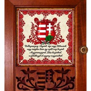 Kulcstartó szekrény, kulcsos szekrény címerrel #17, Otthon & lakás, Esküvő, Nászajándék, Lakberendezés, Falikép, Táska, Divat & Szépség, Magyar motívumokkal, Famegmunkálás, Kerámia, ♥ Vásárlás esetén egy függesztékkel ellátott medált adunk ajándékba!\n\n✿ Nézd meg a többi kulcstartón..., Meska