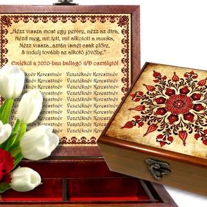 Ékszeres, Tároló vagy Teás doboz pedagógusoknak, óvónőknek #06, Otthon & lakás, Lakberendezés, Tárolóeszköz, Doboz, Táska, Divat & Szépség, Magyar motívumokkal, Esküvő, Nászajándék, Famegmunkálás, Kitűnő ajándék óvónénik, pedagógusok, kollégák köszöntésére vagy búcsúztatására.\nA doboz belsejében ..., Meska
