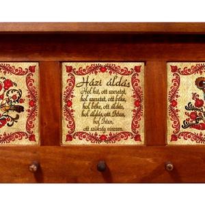 Kulcstartó, kulcsakasztó Áldás madaras motívummal (3 képes) #5, Kulcstartó szekrény, Bútor, Otthon & Lakás, Famegmunkálás, Kerámia, ♥ A termék megvásárlása esetén egy függesztékkel ellátott medált adunk ajándékba!\n\n✿ Nézd meg a több..., Meska