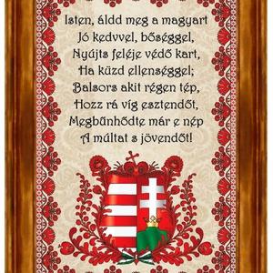 Falikép Himnuszok Címeres motívummal, Otthon & Lakás, Dekoráció, Kép & Falikép, ❶⓿.⓿⓿⓿ Ft feletti vásárlás esetén egy magyar motívumos medált adunk ajándékba!  (a 10.000 Ft a megvá..., Meska