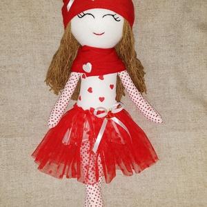 Textilbaba, Gyerek & játék, Játék, Baba, babaház, Baba-és bábkészítés, Varrás, Tündéri, ölelgetni való puha baba.\nKis hercegnők kis hercegnője lehet!, Meska