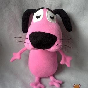 Bátor a gyáva kutya, Játék & Gyerek, Kutya, Plüssállat & Játékfigura, Saját tervezésű minta alapján készült. Magassága 28 cm. Kezei és lábai mozgathatóak. Alacsony hőfoko..., Meska