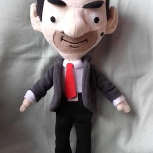 Mr. Bean, Játék & Gyerek, Plüssállat & Játékfigura, Saját tervezésű és készítésű szabásminta alapján készítettem . Teljes magassága 40 cm.  Zakója leveh..., Meska
