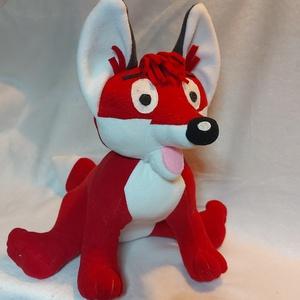 Kis róka, Játék & Gyerek, Plüssállat & Játékfigura, Róka, Saját tervezésű minta alapján készült. Magassága 35 cm. Alacsony hőfokon mosható.  Köszönöm hogy itt..., Meska