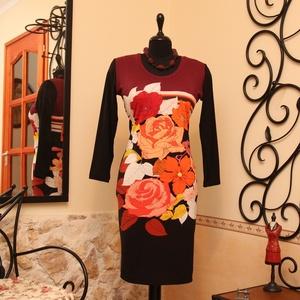 Az ősz csodás színei csokorba kötve ruha, Táska, Divat & Szépség, Női ruha, Ruha, divat, Ruha, Varrás, Vigyél színt a szürke hétköznapokba...\n\nCsodás színvilágú, különleges motívumos, mintaátmenetes ruha..., Meska