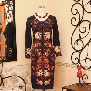Tükörmotívumos különleges női ruha, Ruha, Női ruha, Ruha & Divat, Varrás, Vigyél színt a szürke hétköznapokba...\n\nGyönyörű őszies színvilágú, rafinált tükörmintás ruha!\n\nDeko..., Meska