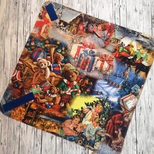Újraszalvéta - Régi idők karácsonya, NoWaste, Textilek, Kendő, Otthon & lakás, Konyhafelszerelés, Edényalátét, Varrás, Elég volt a papírszalvétákból, nejlonzacskókból, fóliába csomagolt uzsonnákból, eldobható műanyag cs..., Meska