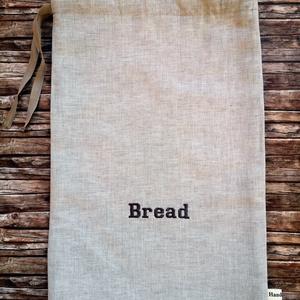 Bread hímzett lenvászon kenyeres zsák (Katalinhandmade) - Meska.hu