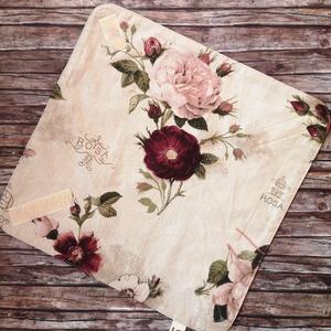 Romatikus rózsás újraszalvéta, Táska & Tok, Uzsonna- & Ebéd tartó, Szendvics csomagoló, Varrás, Elég volt a papírszalvétákból, nejlonzacskókból, fóliába csomagolt uzsonnákból, eldobható műanyag cs..., Meska