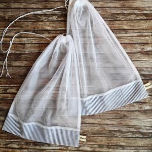 Kék - fehér klasszikus csíkos két darabos újra tasak - öko tasak, Táska & Tok, Bevásárlás & Shopper táska, Zöldség/Gyümölcs zsák, Varrás, Elég volt a papírszalvétákból, nejlonzacskókból, fóliába csomagolt uzsonnákból, eldobható műanyag cs..., Meska