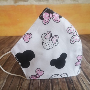 Mickey egeres  arcmaszk, maszk , NoWaste, Textilek, Kendő, Táska, Divat & Szépség, Szépség(ápolás), Egészségmegőrzés, Maszk, szájmaszk, Varrás, Ergonomikus arcmaszk kétrétegű rétegű pamutvászonból: Az orr tetejétől az áll aljáig valamint a füle..., Meska