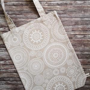 Mandala mintás natúr vászon bevásárló táska - szatyor, Táska & Tok, Bevásárlás & Shopper táska, Shopper, textiltáska, szatyor, Varrás, Elég volt a papírszalvétákból, nejlonzacskókból, fóliába csomagolt uzsonnákból, eldobható műanyag cs..., Meska
