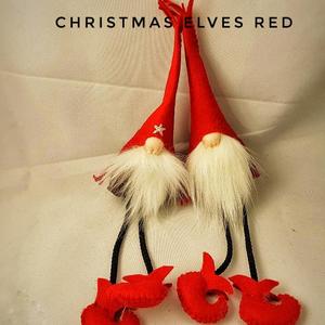 Karácsonyi manó, Karácsonyfadísz, Karácsony & Mikulás, Otthon & Lakás, Varrás, Gyapjúfilcből készült, kézzel varrt, akasztós karácsonyi manók. Méret: kb 20cm\n\nKülönböző színekben ..., Meska