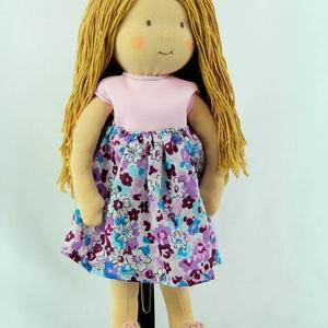 Waldrof jellegű lány baba, virágos ruhácskában (Katika98) - Meska.hu