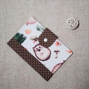 süni egészségügyi kiskönyv borító, Játék & Gyerek, 3 éves kor alattiaknak, Varrás, Új, egyedileg készített, kétrétegű pamutvászon anyagból készült, vetexel merevített egészségügyi kis..., Meska