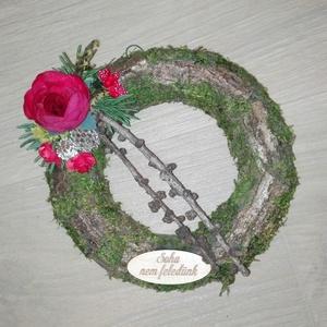 Koszorú, Művészet, Virágkötés, Minden évben eljön a nap,mikor ehunyt szeretteinkre emlékezünk, erre az alkalomra készítettem ezt a ..., Meska
