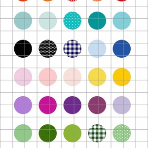 SZÍNEK  kör alakú digitális montázs 25 x 25mm 35db, Gyöngy, ékszerkellék, Üveglencse, Ékszerkészítés, Grafika, fotó, Papírművészet, 2 + 1 AKCIÓ! \nKét ív digitális montázs vásárlása esetén választani lehet egy harmadikat ajándékba!\nF..., Meska