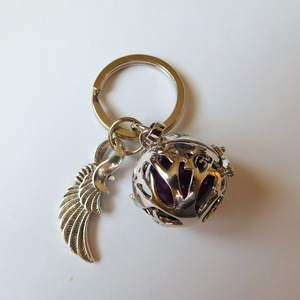 Angyalhívó kulcstartó 2. (életfa), Ékszer, Mobilékszer, Ékszerkészítés, Az angyalhívó nyaklánc kulcstartó változata. Kulcsaid őrzőjeként mindig veled lehet! Férfiaknak is a..., Meska
