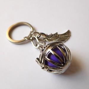 Angyalhívó kulcstartó 1. (rácsos), Ékszer, Mobilékszer, Ékszerkészítés, Az angyalhívó nyaklánc kulcstartó változata. Kulcsaid őrzőjeként mindig veled lehet! Férfiaknak is a..., Meska