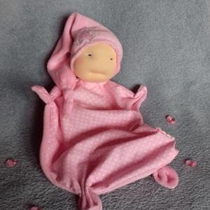 Szundi manó (kisebb), Gyerek & játék, Játék, Baba, babaház, Baba-és bábkészítés, Varrás, A baba, a waldorf babák mintájára készül természetes anyagokból. \nTöltete gyapjú, ruhája puha plüss ..., Meska