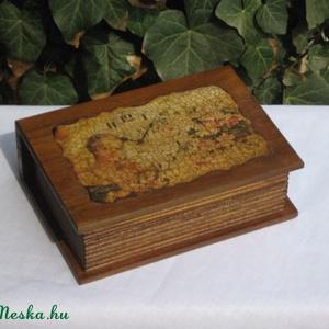 ékszeres doboz, repesztőlakkos, decoupagepapíros (katyimatyi) - Meska.hu