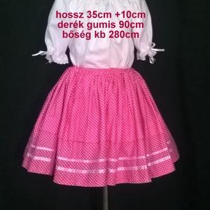 Gyermek néptánc próbaszoknya 35-45 cm (Kavicsanyu) - Meska.hu