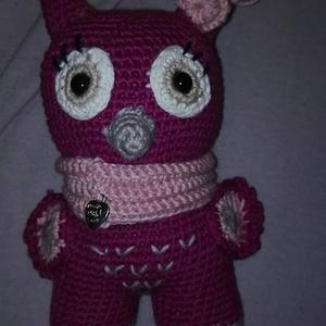 Kicsi bagoly lány, Bagoly, Plüssállat & Játékfigura, Játék & Gyerek, Horgolás, Amigurumi horgolással készítettem ezt a bagoly leányzót.\n100% pamut (Safran) fonalból készült, szeme..., Meska