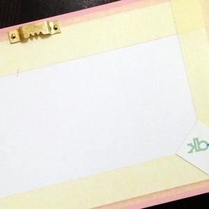 Egyedi rózsaszín névtábla (KBP00) - Meska.hu