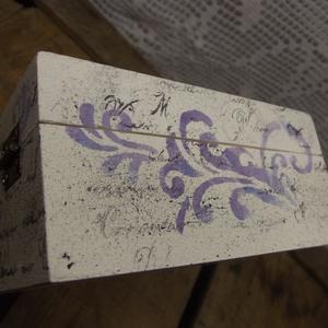 Hortenziás szögletes dobozka (Kdekor) - Meska.hu