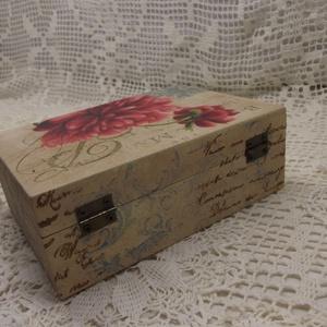 Bazsarózsás szögletes dobozka (Kdekor) - Meska.hu