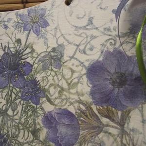 Kék virágos kopogtató (Kdekor) - Meska.hu