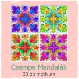 Csempe Mandalák - nyomtatható színező sablon  (kedo) - Meska.hu