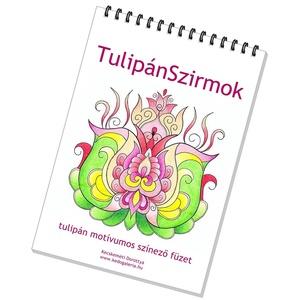 Tulipános színező füzet  (kedo) - Meska.hu