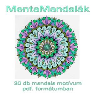 MentaMandalák - nyomtatható mandalás színező (kedo) - Meska.hu