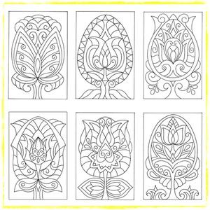 Húsvéti virág-világom II.- nyomtatható tulipános sablon füzet (kedo) - Meska.hu