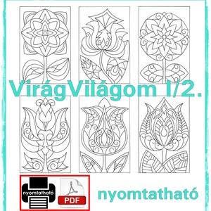 Virág-világom I/2.- nyomtatható virágos sablon füzet (kedo) - Meska.hu
