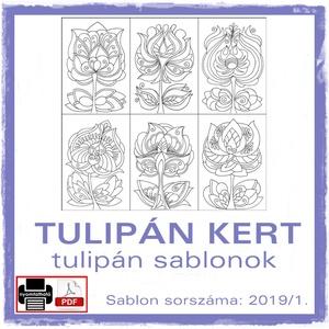 TulipánKert 2019/1, Otthon & lakás, Dekoráció, Kép, 6 db tulipán motívum, az idei év első csokra. (2019/1)  A sablont kedved szerinti méretben és mennyi..., Meska