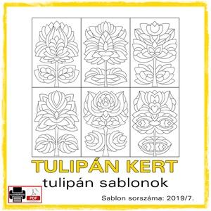 TulipánKert 2019/7, Otthon & lakás, Dekoráció, Kép, 6 db  új tulipán motívum tovább alkotáshoz. Sablon sorszáma: 2019/7.  A sablont kedved szerinti mére..., Meska