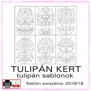 TulipánKert 2019/16, Otthon & lakás, Dekoráció, Kép, 6 db  új tulipán motívum tovább alkotáshoz. Sablon sorszáma: 2019/16.  A sablont kedved szerinti mér..., Meska