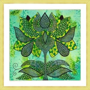 Tulipános falikép, Otthon & lakás, Dekoráció, Kép, Képzőművészet, Grafika, Rajz, Saját tervezésű és készítésű rajzomat kínálom paszpartuban. Akvarell festékkel előszínezett, akvarel..., Meska