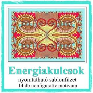 Energia kulcsok - nyomtatható színező lapok, Otthon & lakás, Képzőművészet, Grafika, Rajz, Fotó, grafika, rajz, illusztráció, Saját tervezésű, nonfiguratív motívumok. A színes energiák színezőm néhány rajza fotószerkesztővel s..., Meska