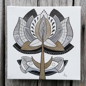 Tulipános falikép, Otthon & lakás, Dekoráció, Kép, Képzőművészet, Grafika, Rajz, Számomra szívet melengető érzés tulipánjaim megszületésének minden pillanata. Örömmel, hálával és ti..., Meska