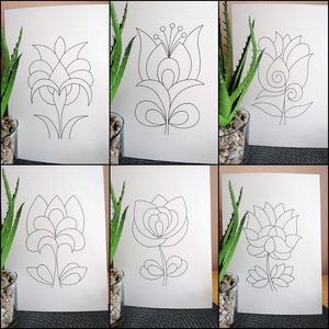 Tulipános sablon lapok (kedo) - Meska.hu