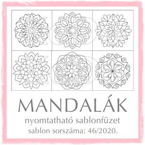 Mandalák 46/2020, Otthon & lakás, Dekoráció, Kép, 24 db mandalát (a 42-43-44-45 sorszámú sablonfüzetek motívumait) tartalmazza a csomag.  A sablonfüze..., Meska