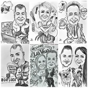 Alkalmi karikatúra, Művészet, Portré & Karikatúra, Karikatúra, Fotó, grafika, rajz, illusztráció, Fénykép és jellemző tulajdonság/sport/esemény/foglalkozás/alkalom alapján készül a teljes alakos raj..., Meska