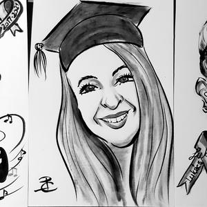 Ballagási, diplomaosztói emlék, Művészet, Portré & Karikatúra, Karikatúra, Fotó, grafika, rajz, illusztráció, Nem tudod mit vigyél ballagára, diplomaosztóra a pénz mellé, ami személyes, maradandó, egyedi, ötlet..., Meska