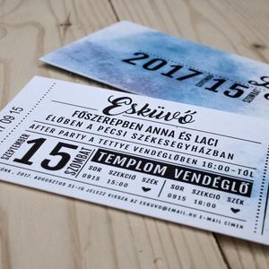Esküvői meghívó tokban, Esküvő, Esküvői dekoráció, Meghívó, ültetőkártya, köszönőajándék, Fotó, grafika, rajz, illusztráció, Papírművészet, Ha valami eltérnétek a szokványos meghívóformától, akkor ez a meghívó kitínő választás!\n\nMérete 14 x..., Meska