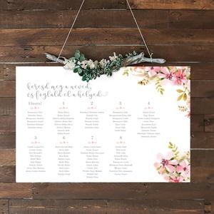 Esküvői ülésrend, Ültetési rend, Meghívó & Kártya, Esküvő, Fotó, grafika, rajz, illusztráció, Személyre szabottan, egyedi elképzelés szerint készítem el az ülésrendet, természetesen hozzá passzo..., Meska